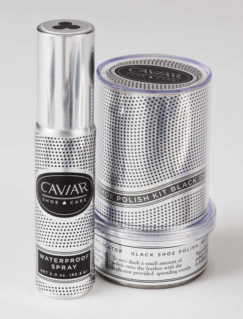 Image of Caviar Shoe Care Waterproof Spray & Polish Kit labels