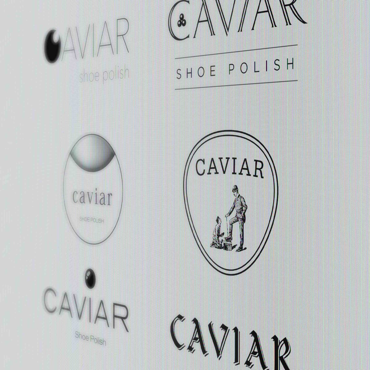 Image of Caviar Shoe Care digital logo explorations