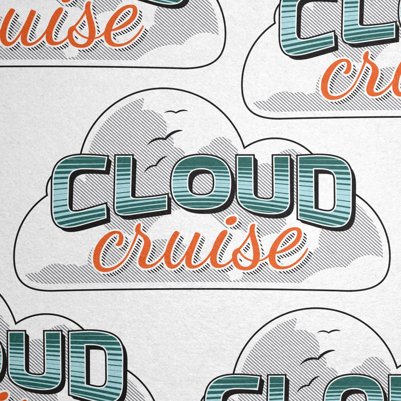 Image of Cloud Cruise color logo detail