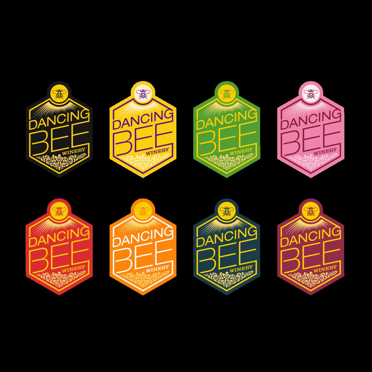 Image of Dancing Bee Winery logo color series