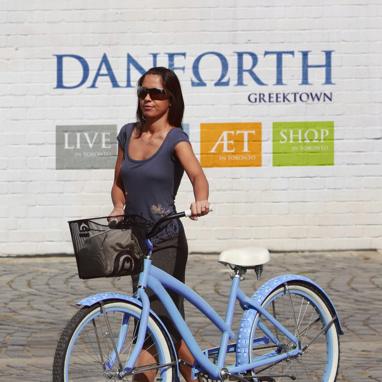 Image of Danforth Greektown logo application mockup