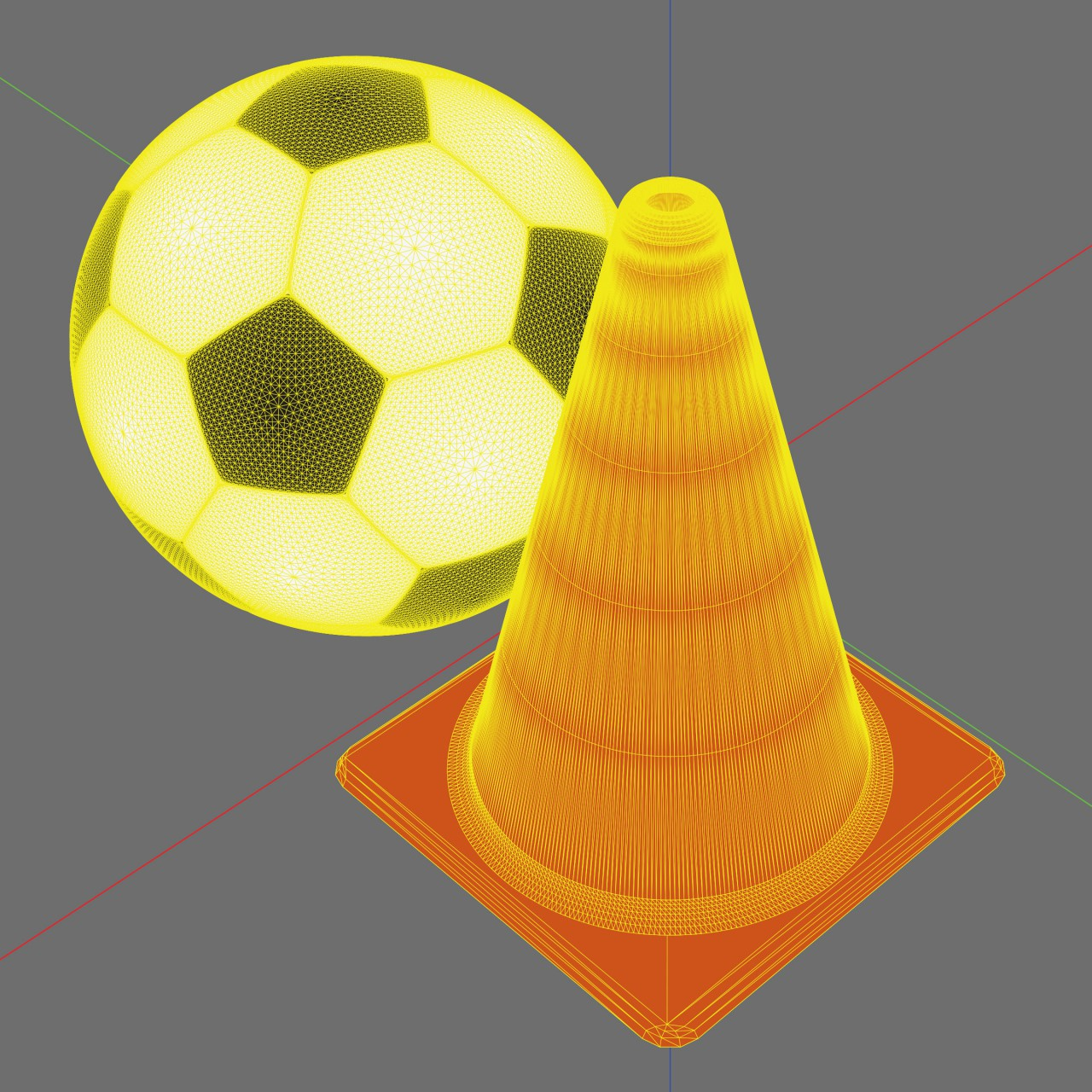 Image of Downtown Soccer Toronto logo 3d model