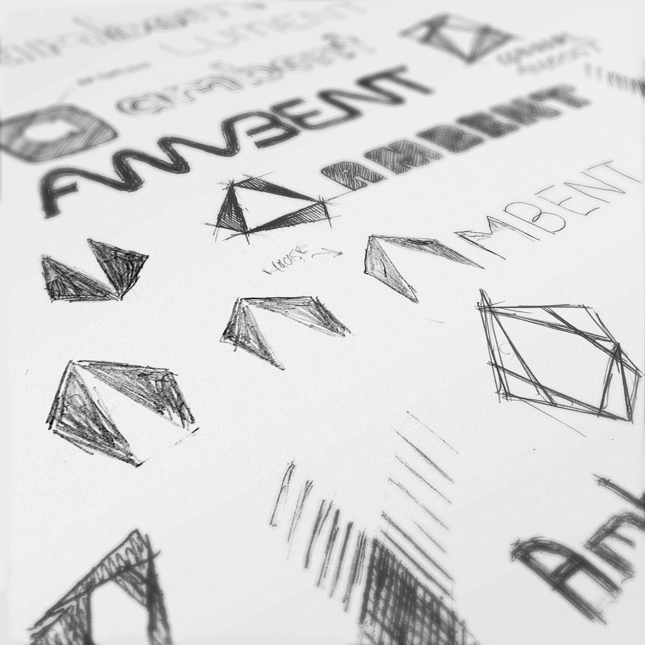Image of Lument Lighting logo process sketches