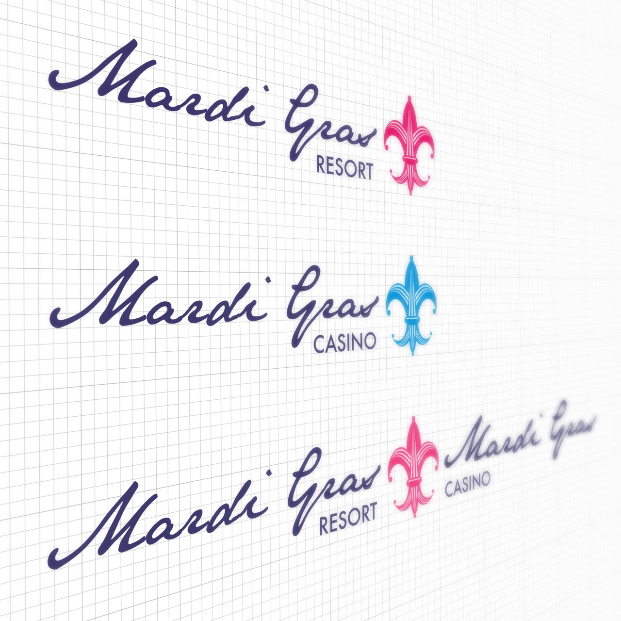 Image of Mardi Gras Resort logo alternates