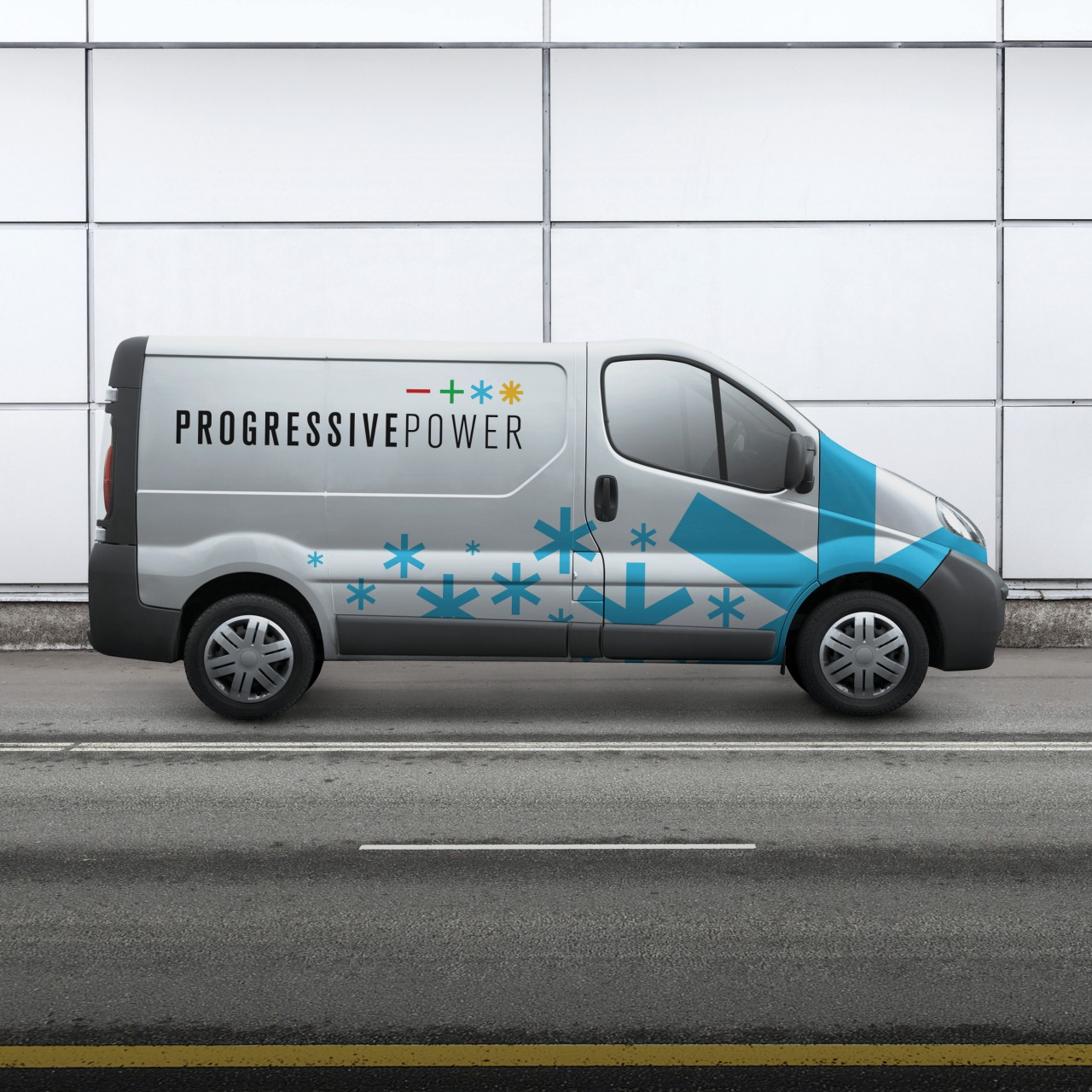 Image of Progressive Power logo service vehicle application