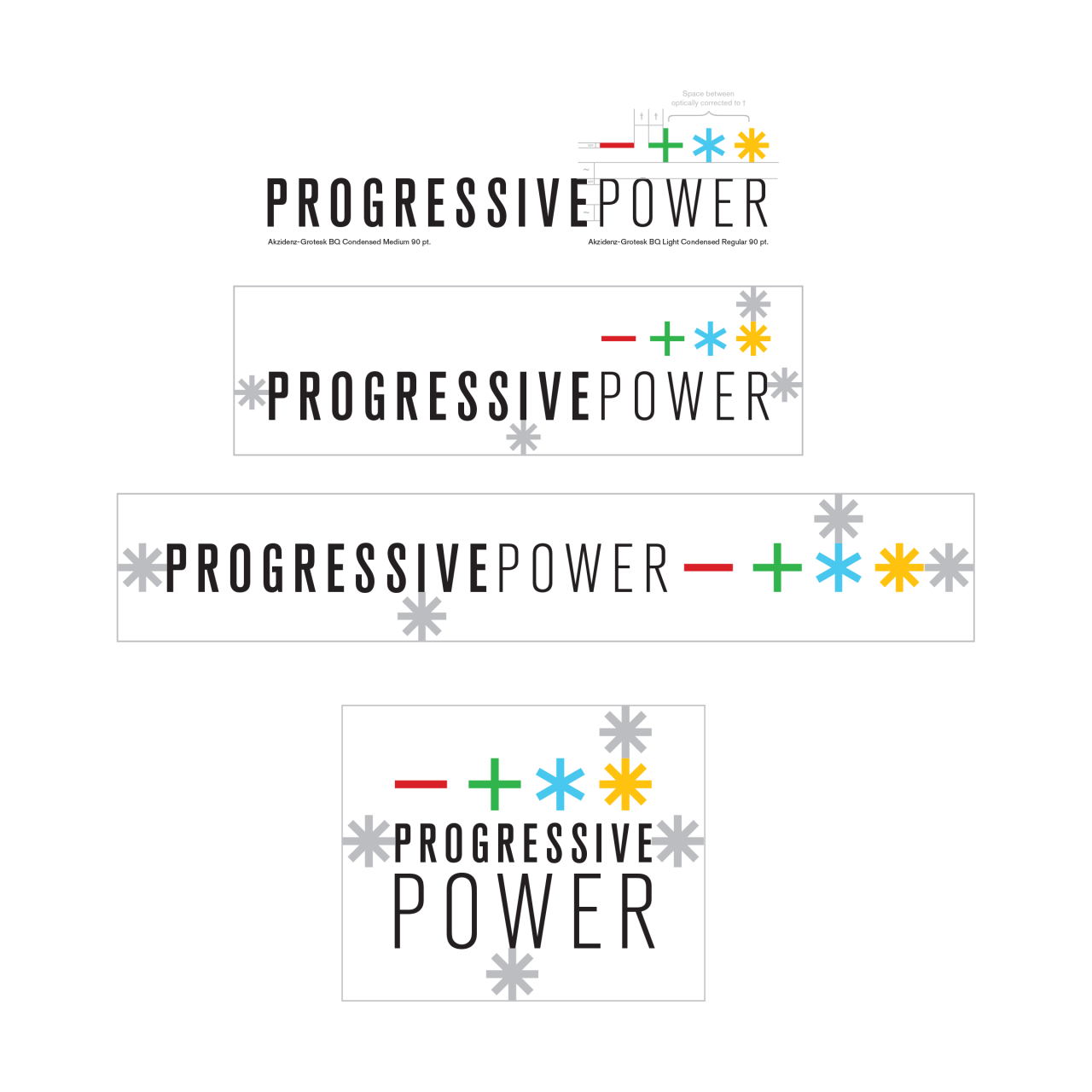 Image of Progressive Power logo alternates and clear space
