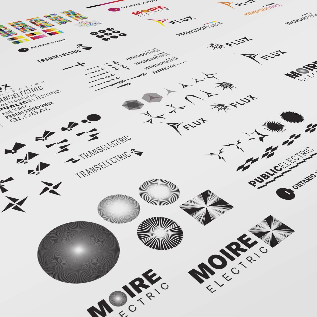 Image of Progressive Power logo iterative design process