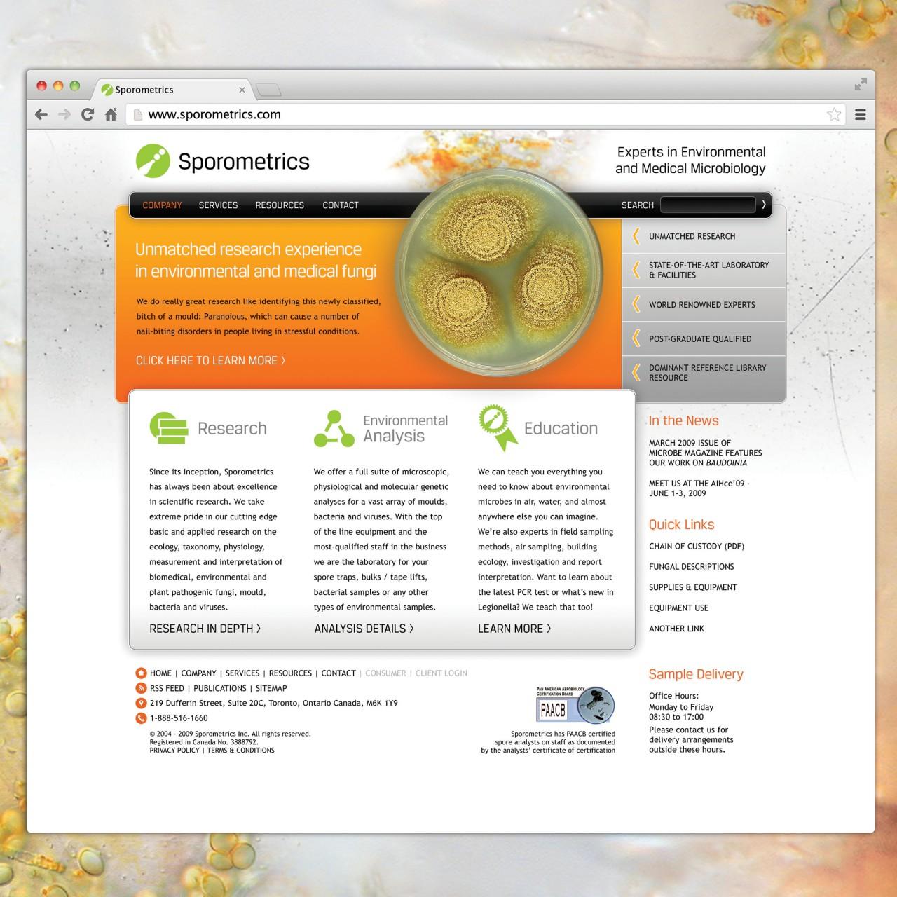 Image of Sporometrics logo website application