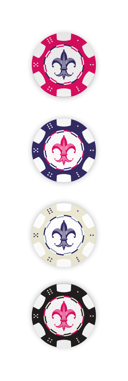 Image of Mardi Gras Resort poker chips