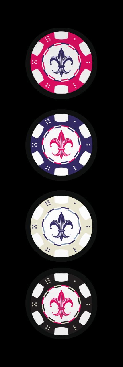 Image of Mardi Gras Resort poker chips